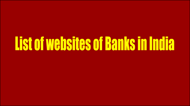 List of websites of banks in India