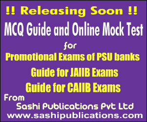 Banking promotion MCQ guides