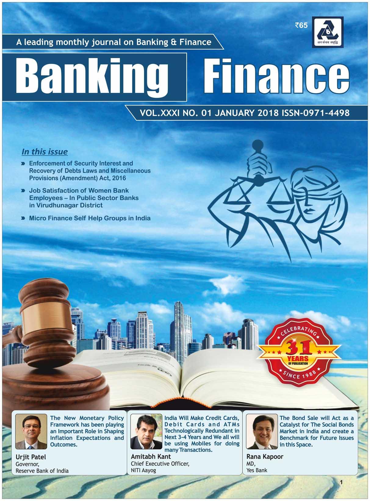 Banking Finance January 2018